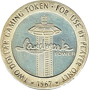 2 Dollar Gaming Token - Landmark Casino (Las Vegas, Nevada) – reverse