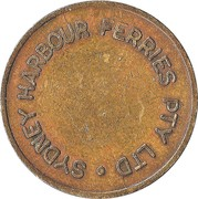 Token - Sydney Harbour Ferries Pty Ltd – obverse