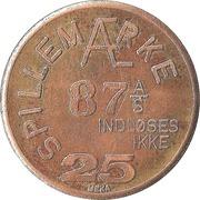 25 Spillemærke - Indløses Ikke (87 A/S) – reverse