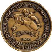 Token - Eskimo Olympics (Fairbanks, Alaska) – reverse