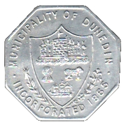 1 Penny - Dunedin Corporation Tramways Token – obverse