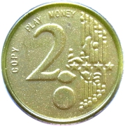 2 Euro – Play Money – obverse