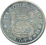 Replica - 8 Reales Philip V 1743 – reverse