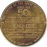 50 Cents - Bend Oregon – reverse