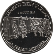 Token - The Great War 1914-1918 (France mobilized) – obverse