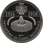 Token - The Great War 1914-1918 (France mobilized) – reverse