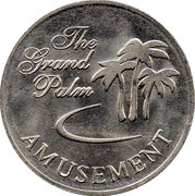 Token - The Grand Palm Amusement – obverse
