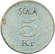 5 Krone - Scala Spilleland – reverse