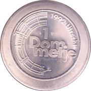 1 Dommetje - Jubileumactie 1992 (Waterhart van Nederland) – reverse