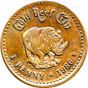 1 Penny - Gold Reef City – reverse