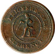 Civil War Token - Knickerbocker Currency – obverse