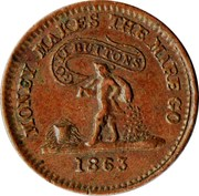 Civil War Token - Knickerbocker Currency – reverse