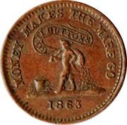 Civil War Token - Knickerbocker Currency – reverse