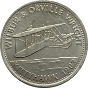 Shell Token - Man In Flight (Wilbur & Orville Wright) – obverse