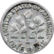 Token - Mini Coin (Roosevelt Dime) – reverse