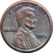 Token - Mini Coin (Lincoln Memorial Cent) – obverse