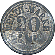 "20 Pfennig (Werth-Marke; Countermarked ""BT"") – obverse"
