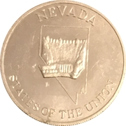Token - Shell's States of the Union Coin Game, Version 2 (Nevada / Wisconsin) – obverse