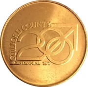 Token - Bicentennial Guilford County, North Carolina – obverse