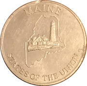 Token - Shell's States of the Union Coin Game, Version 2 (Maine / Wisconsin) – obverse