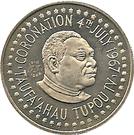 50 Seniti - Taufa'ahau Tupou IV (countermarked) – obverse