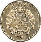 50 Seniti - Taufa'ahau Tupou IV (countermarked) – reverse