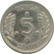 5 Seniti - Salote Tupou III – reverse