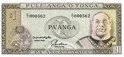 1 Pa'anga – obverse