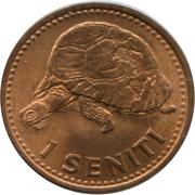 1 Seniti - Taufa'ahau Tupou IV – reverse