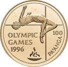 100 Pa'anga (High jumper) – reverse