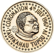 ¼ Hau (King's 50th Birthday) – obverse