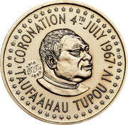 ½ Hau (King's 50th Birthday) – obverse