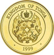 20 Pa'anga (Coronation of Queen Elizabeth II) – obverse