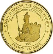 20 Pa'anga (Coronation of Queen Elizabeth II) – reverse