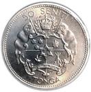 50 Seniti - Taufa'ahau Tupou IV (Coronation) – reverse
