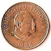 2 Seniti - Taufa'ahau Tupou IV – obverse