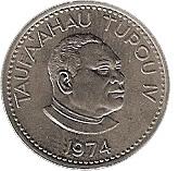 5 Seniti - Taufa'ahau Tupou IV – obverse