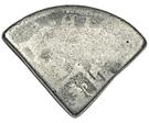 2 Shillings (Type II countermark) – reverse