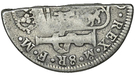 4 Shillings  1½ Pence (Type I countermark on Mexican 8 Reales of Carl IV) – reverse
