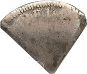 2 Shillings (Type III countermark) – reverse