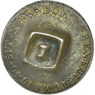1½ Pence (Black Dog; H countermark on French Metropolitan 2 Sols) – reverse