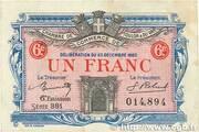 1 Franc - Chambre de commerce de Toulon et du Var (83) – obverse