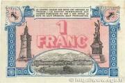 1 Franc - Chambre de commerce de Toulon et du Var (83) – reverse