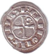Obole, comté de Toulouse, Raymond V, VI ou VII (1150-1200) – obverse
