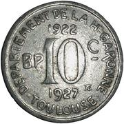 10 Centimes (Departement De La H-Garonne; Toulouse) – reverse