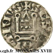Denier Philippe II Auguste, Abbaye Saint-Martin de Tours – reverse