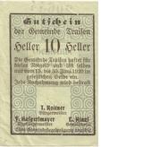 10 Heller (Traisen) – obverse