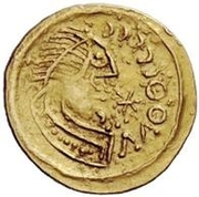 1 Tremissis - In the name of Justinian I, 527-565 (Pannonia) – obverse