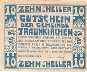 10 Heller (Traunkirchen) -  reverse