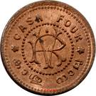 4 Cash - Moolam Thirunal Rama Varma VI – reverse